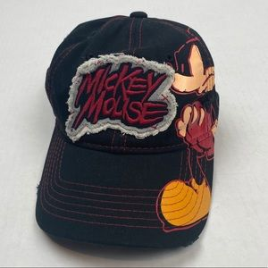 Mickey Mouse hat cap black embroidered patch kids